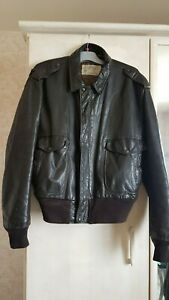 Aviateur-SCHOTT-I-S-674-M-S-Superbe-Authentique-Cuir-Flight-Jacket-Vintage-80-039