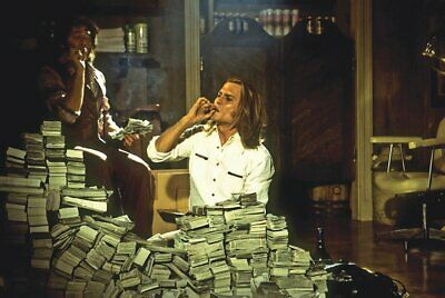 Blow The Movie Piles Of Cash Poster 24 x 36
