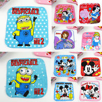 Cartoon Children baby Towel Christmas Gift Minions Printed Face Cloth Flannel