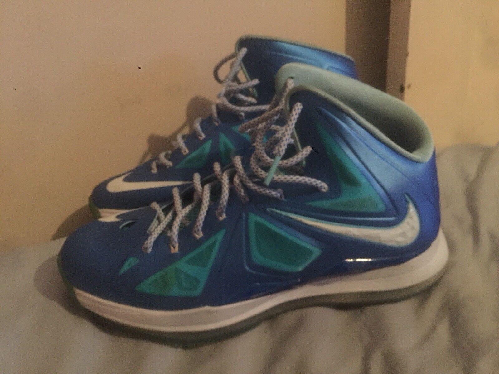 52e6842333e7 Nike Lebron X 10 Blue Diamond size 11 11 11 a6e505 - buckle ...