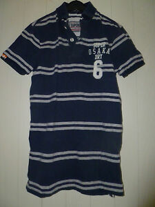 Boys-Mens-Lovely-SUPERDRY-Polo-Shirt-Size-S-Chest-36-034-Blue-striped