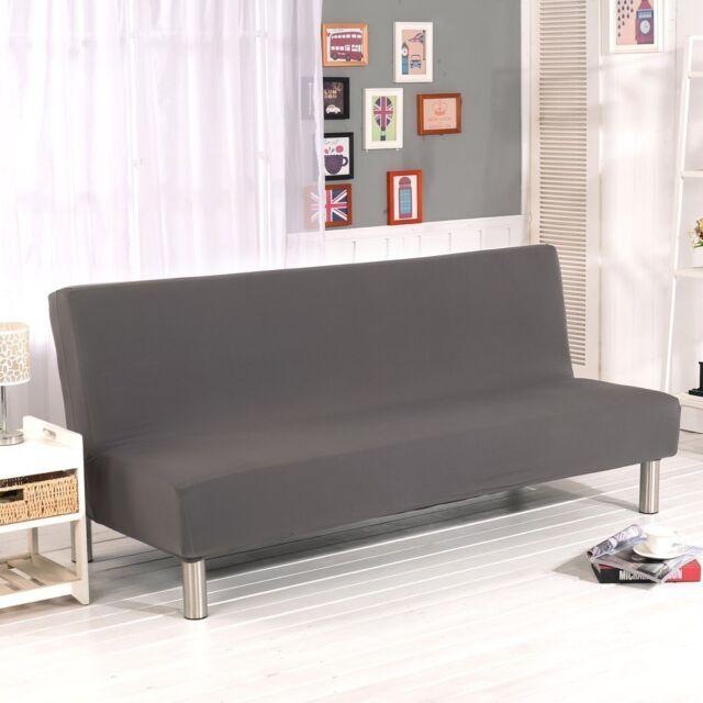 Armless Sofa Futon Cover Furniture
