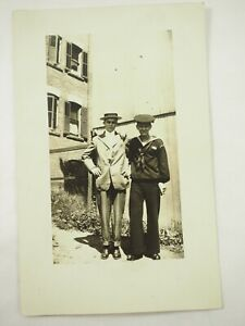 WWI-One-Brother-in-der-Marine-The-Other-in-der-Theater-Echt-Foto-RPPC-Postkarte