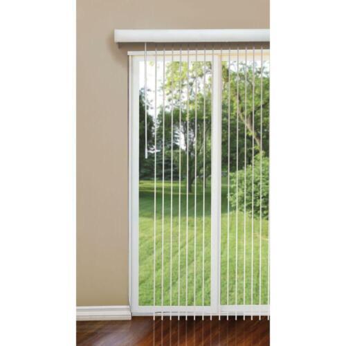 "Home Office Room Patio Door Window Shade White 3.5/"" Vertical Blinds 78 x 84 in"