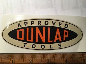 "Dunlap Tools decals 5"" long Vintage carpenters box"