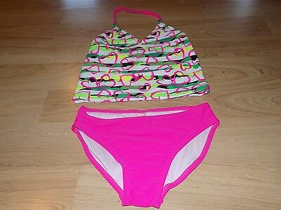 c19330624d2c Size XS 4-5 Op Ocean Pacific Tankini Swimsuit Bathing Swim Suit Pink Hearts