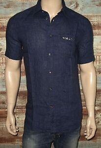 3b3fa336813  148 NEW Diesel S-EMIKO Shirt in Navy Blue LARGE Short Sleeve 100 ...