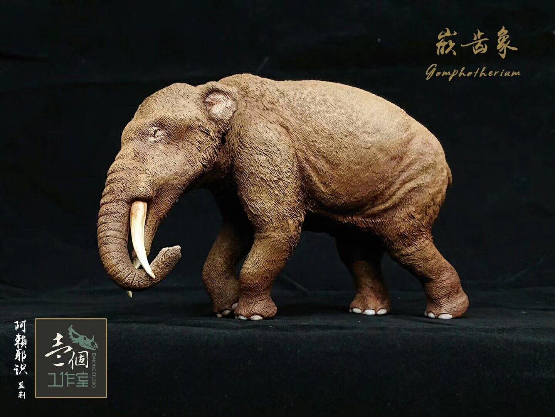 1 20 Gomphotherium Statue Elephant Collector Palaeoloxodon Animal Model GK Gift