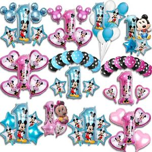 Disney-Mickey-Minnie-Mouse-First-1st-Birthday-Balloons-Baby-Foil-Latex-Large-Set