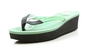 Image is loading UGG-Australia-Ruby-Green-Seafoam-Leather-Ladies-Wedge-