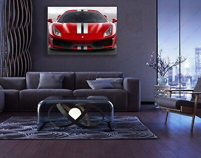 Ferrari Sports Car poster wall decoration photo print 24x24 inches
