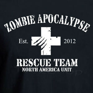 d5df9fa51 Image is loading ZOMBIE-APOCALYPSE-RESCUE-TEAM-2012-funny-walking-dead-
