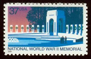 #3862 37c Guerra Mundial Dos Conmemorativo, Nuevo Cualquier 5=