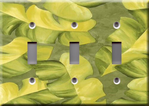Plant tree fruit food yellow Light Switch Plate Cover Banana tropical leaves