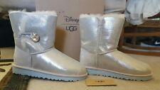 NIB Disney Frozen Elsa/Anna Arendelle UGG Ice kids Size 4 Fits Women 6 Swarovski