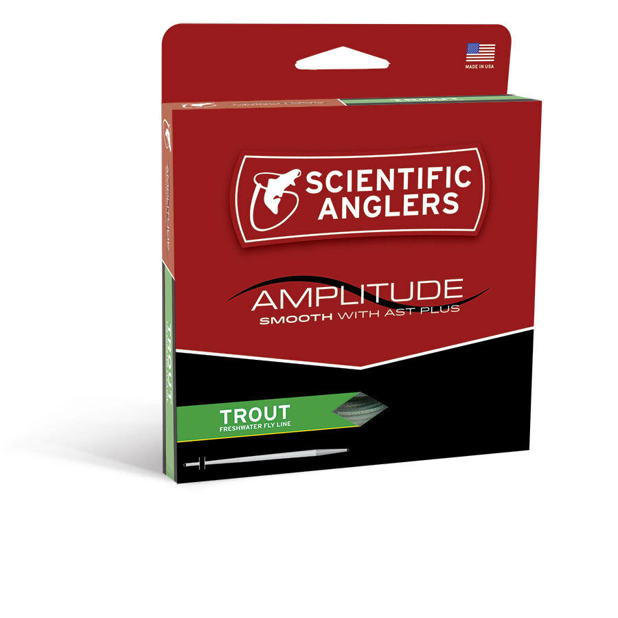 NEW SCIENTIFIC ANGLER AMPLITUDE SMOOTH TROUT WF-4-F WEIGHT FLOATING FLY LINE