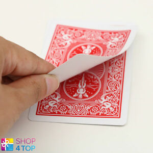 BICYCLE-RIDER-BACK-NO-FACE-SINGLE-CARD-MAGIC-TRICKS-PLAYING-GAFF-RED-NEW