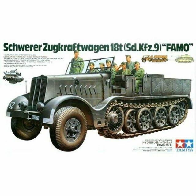 "Tamiya 1/35 German 18 Ton Half-Track (Sd.Kfz.9) ""FAMO"" Kit (New)"