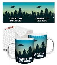 UFO I Want To Believe Coffee Mug Cup Ceramic 11 oz New Trees Dark