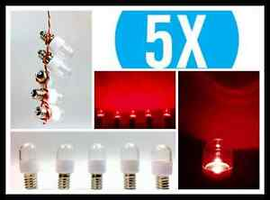 Kühlschrank Birne Led : 5x led 0 6w e14 klar in rot farbig lampe kühlschrank signal günstig