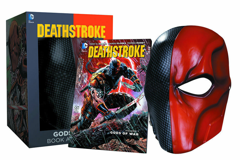 Batman DC Universe  Deathstroke Gods of War Vol. 1 Book & Life Size Mask Set