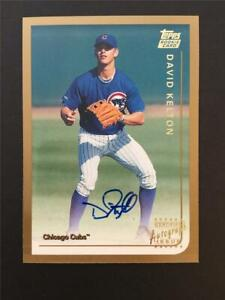 1999 Topps Traded Auto Autograph #T15 David Kelton Cubs