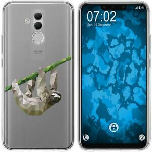 Mate-20-Lite-Coque-en-Silicone-animaux-vecteur-sloth-M6-Case