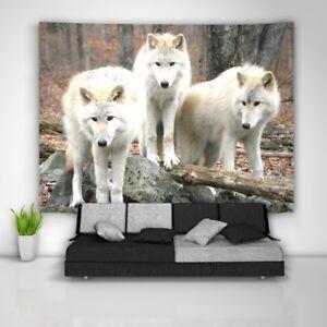 Wolf-Tree-Wandteppich-Kunst-Wandbehang-Tisch-Bettdecke-Wohnkultur