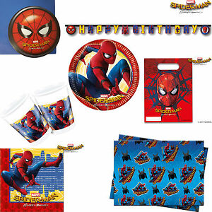 boys spiderman homecoming disney marvel birthday party tableware