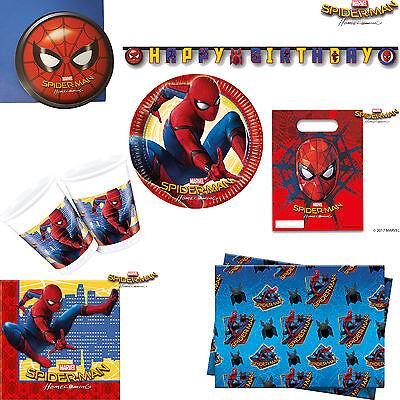 Boys Spiderman Homecoming Disney Marvel Birthday Party Tableware &  Decorations | eBay