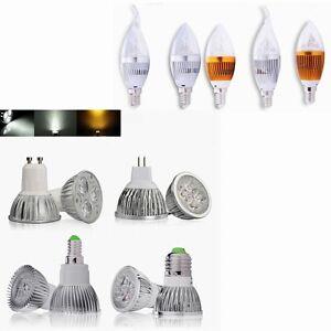 10x-4W-Kaltweiss-Warmweiss-Mr16-12v-Gu10-E14-LED-Strahler-Spot-Lampe-Leuchte