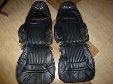 1997-2004 C5 Corvette Synthetic Leather Seat Covers Standard Seats Black