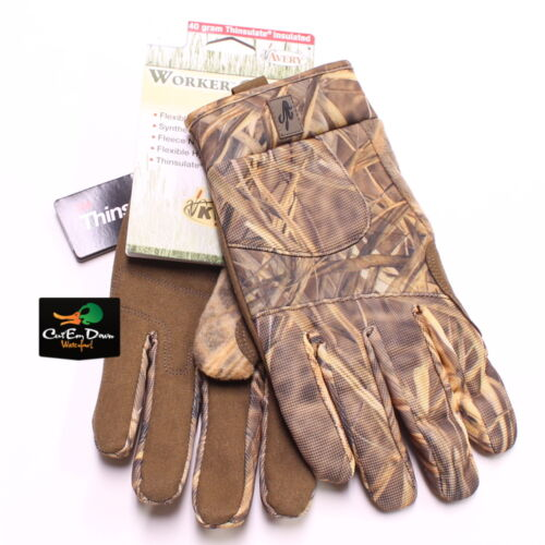AVERY GHG WORKER SERIES INSULATED HUNTING SHOOTING GLOVES KW1 CAMO MEDIUM