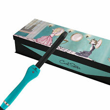 """Brilliance New York Clipless Curling Wand Iron Ceramic Turquoise 1"""" Curl Setter"""