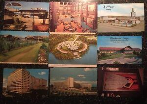 Postcard-Vintage-Hotel-Motel-Lodge-Travel-Lot-Photo