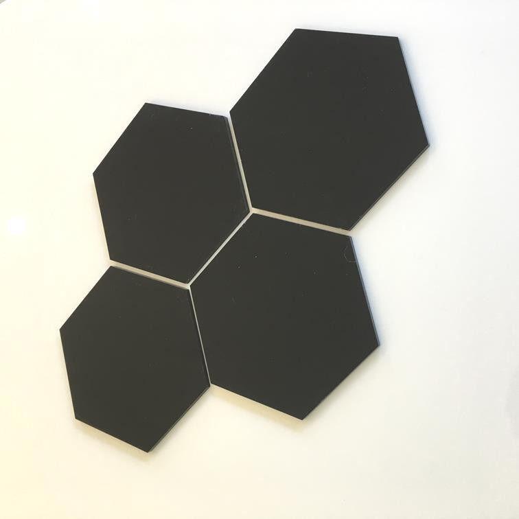 HEXAGONAL Acryl Wandfliesen - schwarz