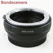 FOCAL RIDUTTORE SPEED BOOSTER Nikon F Mount G Lente a Micro 4 / 3 Adattatore M43 GH4 G6