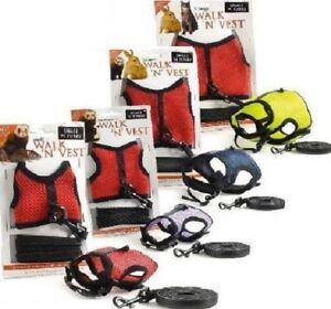 PET-HARNESS-amp-LEASH-Walk-Vest-Safety-Lead-Animal-Rabbit-Ferret-Cat-bp-PawMits