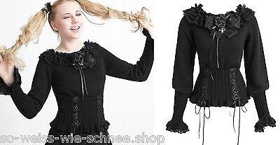 Punk Rave Gothic Lolita Pullover Brosche Rose Strick Steampunk Pulli Pin LM-001