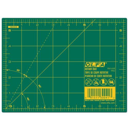 OLFA Cutting Mat, 6 x 8  Green (OLFA RM-6X8)