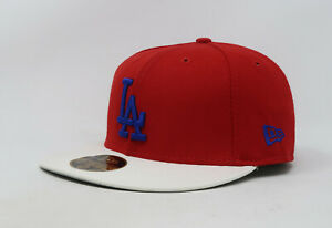 New-Era-59Fifty-Hat-Mens-MLB-Los-Angeles-Dodgers-Red-White-Blue-Fitted-5950-Cap