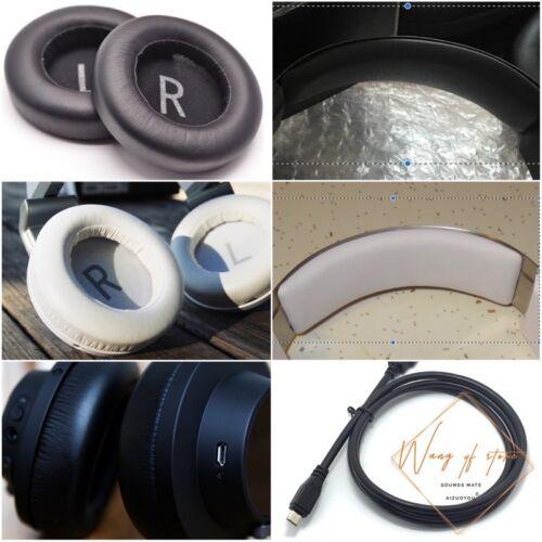 Memory Foam Ear Cushion Head Pad For AKG K845 K545 BT Headphone Charging cable