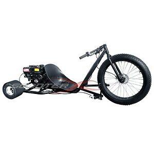 Drift Trike Gas Powered 6 5hp 3 Wheel Big Black Cart Go Kart Bike Motor Wheeler Ebay