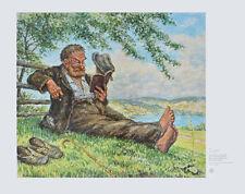 Otto Quante Poster Kunstdruck Bild Fern vom Alltag 49x64 cm Kostenloser Versand