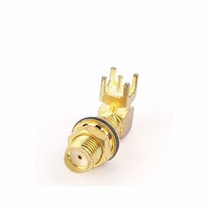 SMA-Female-Right-Jack-Angle-Coaxial-Solder-PCB-Mount-RF-Connector-USA