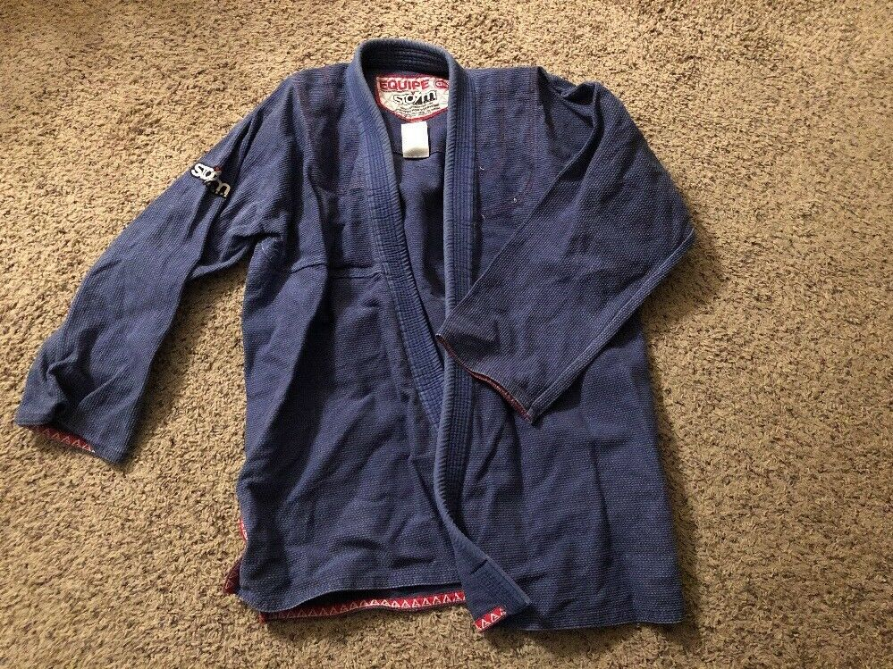 Gracie Barra A5- bluee  Kimono (Storm Brand) Missing Patches Used  100% brand new with original quality