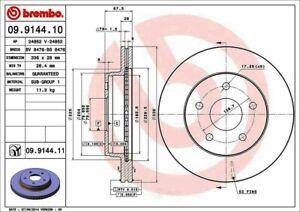 Brembo 09.9144.11 UV Coated Front Disc Brake Rotor