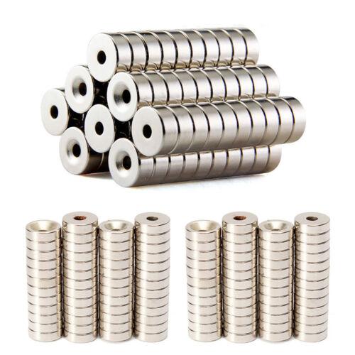 Sehr starke Neodym Ring Magnete Magnetringe Bohrung Größe und Menge frei wählbar