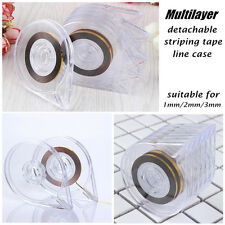 6Pcs Striping Tape Line Case Manicure Nail Art Organizer Multilayer Detachable