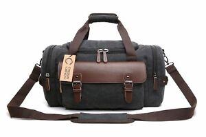 Image is loading Crosslandy-Canvas-Travel-Duffel-Bag-Luggage-Gym-Weekend- 0251f5a721a7d
